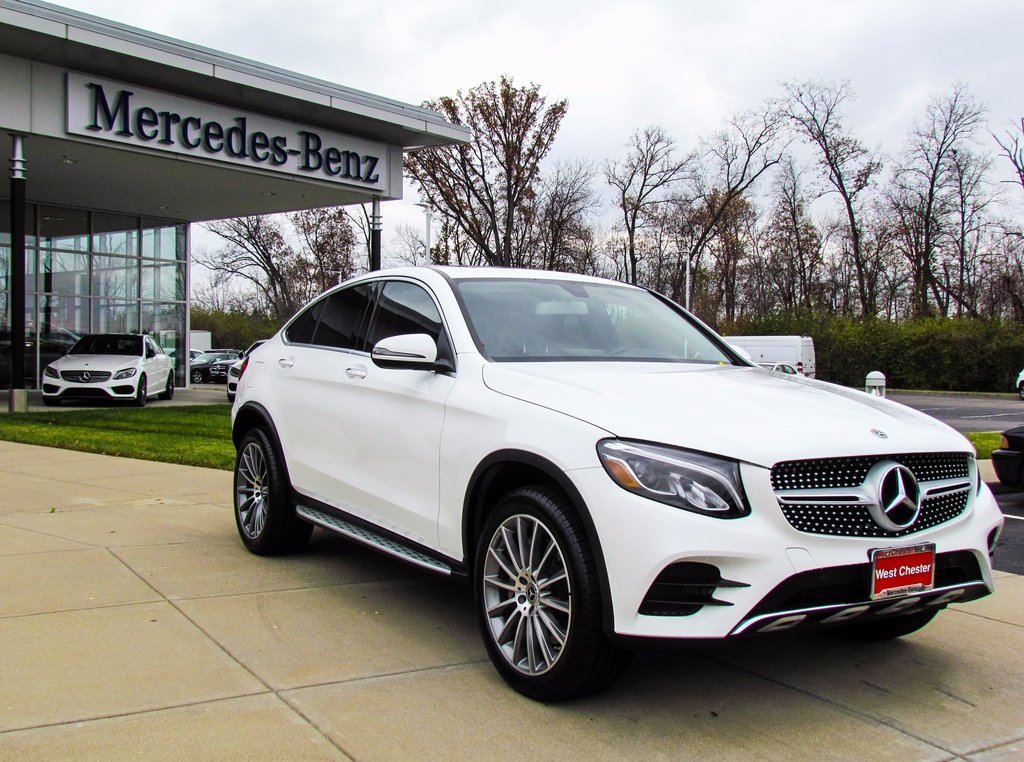 stock l2909p pre owned 2018 mercedes benz glc 300 4matic coupe in west chester. Black Bedroom Furniture Sets. Home Design Ideas